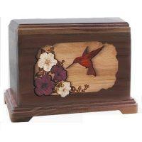 Hummingbird Walnut Urn for Two