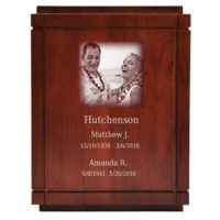 Essex Laser Photo Urn for Two