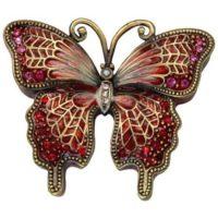 Crimson Butterfly Keepsake Urn