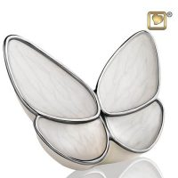 White Butterfly Wings Urn