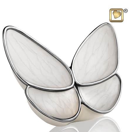 Butterfly Hope White Keepsake Urn
