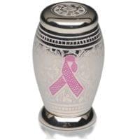 Pink Ribbon Nickel Keepsake Urn