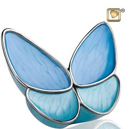 Butterfly Hope Blue Keepsake Urn