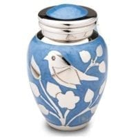 Silver Blessings Blue Keepsake Urn