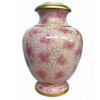 Pink Flowers Cloisonne Urn