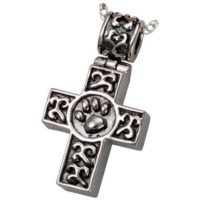 Celtic Cross Pet Cremation Necklace