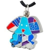 Color Block Doggy Cremation Jewelry