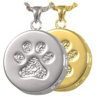 Eternity Paw Prints Cremation Necklace