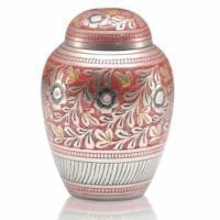 Small Colorful Brass Urn 2 Sizes