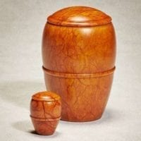 Canyon Sunset Alabaster Urn