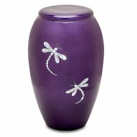 Purple Dragonflies Urn