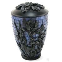 Mosaic Iris Blue Urn