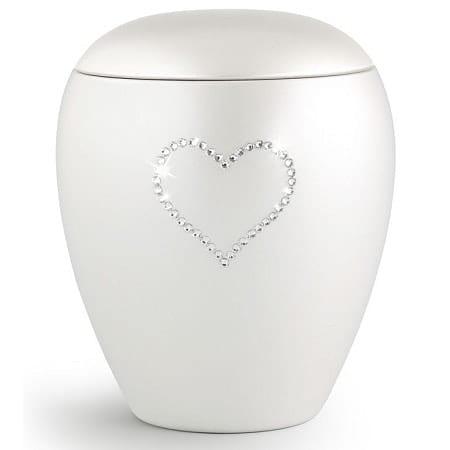 Swarovski White Heart Small Urn