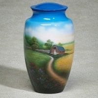 Country Road Hand Painted Urn