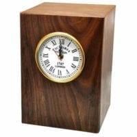 Wood Clock Urn for Two