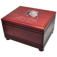 Grooved Extra Large Hardwood Photo Urn