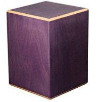 Purple Wood Cube Urn