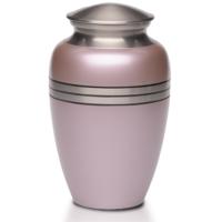 Metallic Pink Urn
