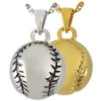 Baseball Cremation Necklaces