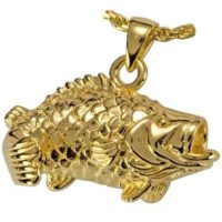 Bass Gold Cremation Necklace
