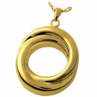 Infinity Love Knot Gold Cremation Necklace