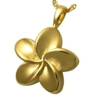 Gold Flower Cremation Necklace