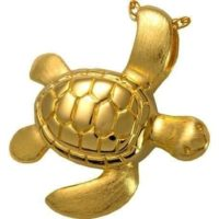 Sea Turtle Gold Cremation Necklace
