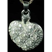 Swarovski Silver Heart Urn Necklace