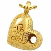 Hole In My Heart Ashes Pendant
