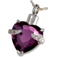 Purple Heart Ashes Pendant