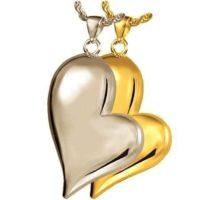 Tear Side Heart Cremation Pendant