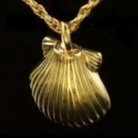 Gold Vermeil Shell Cremation Necklace