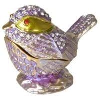 Lavender Bird Keepsake Urn