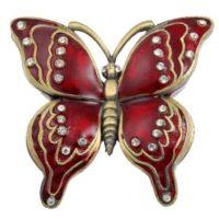 Red Butterfly Keepsake Urn