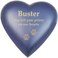 Blueberry Pet Heart Urn
