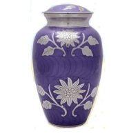 Purple Flowers Urn