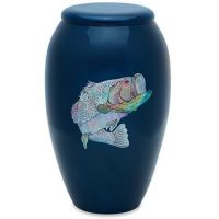 Blue Mother of Pearl Bass Urn