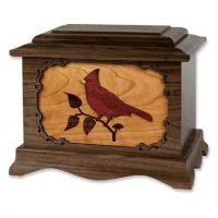 Wood Cardinal Urn