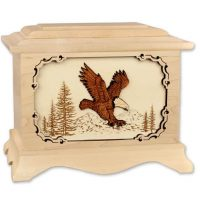 Eagle Urn in Solid Maple
