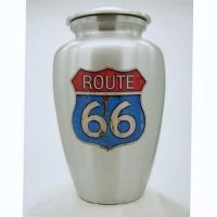 Route 66 Sign Urn for Ashes