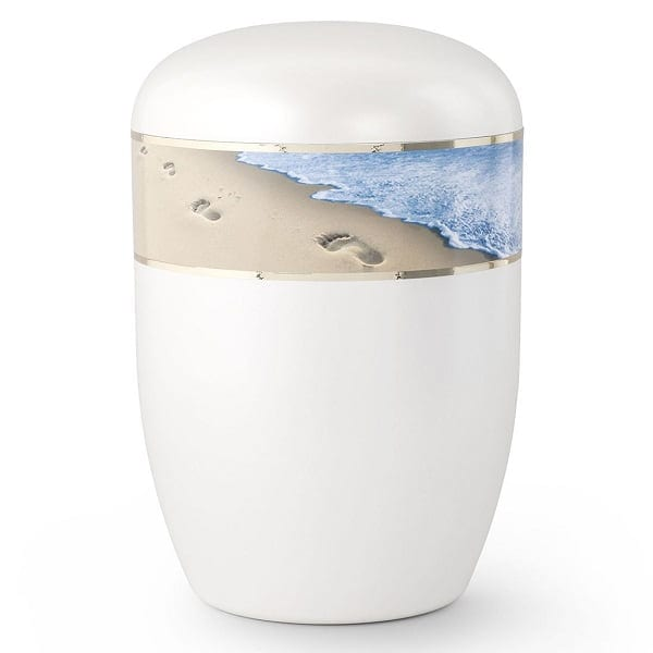 Biodegradable Beach Footprints in the Sand Urn