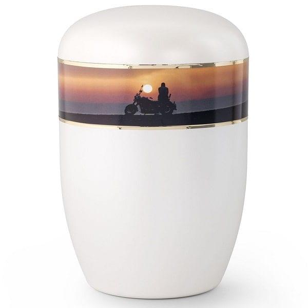 Sunset Biker Motorcycle Urn