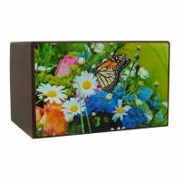 Colorful Garden Butterfly Urn