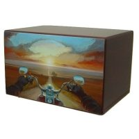 Ride Into the Sunset Motorcycle Urn