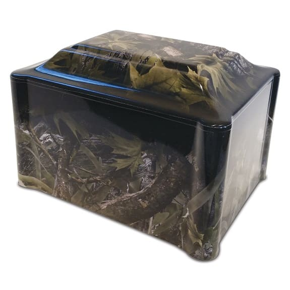 Camouflage Hunter Vinyl Wrapped Urn