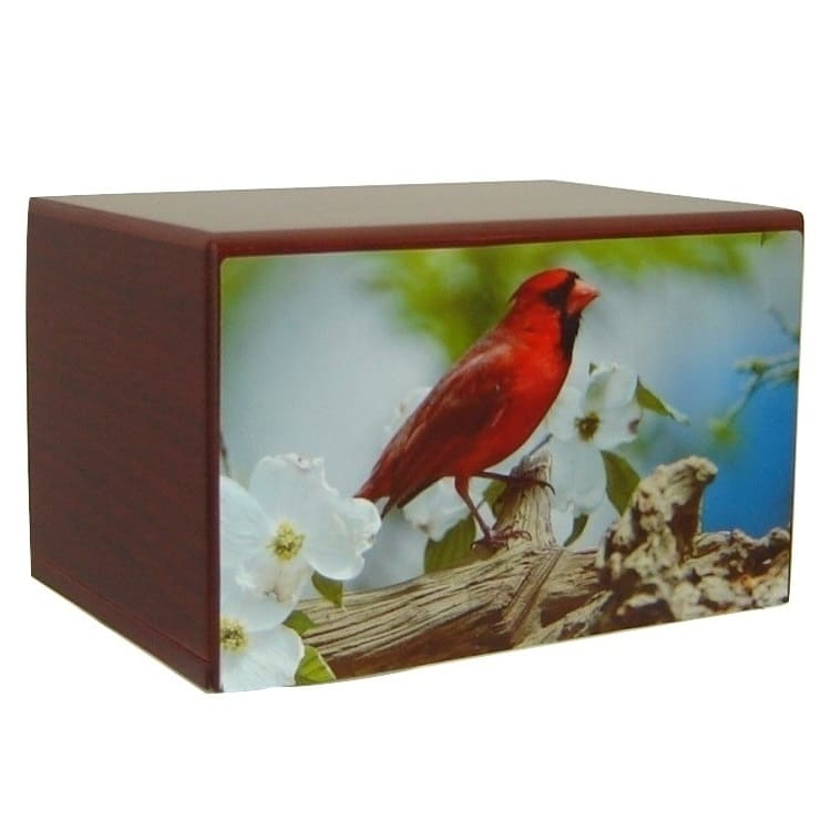 Cardinal Urn for Ashes