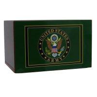 Army Emblem Wooden Urn