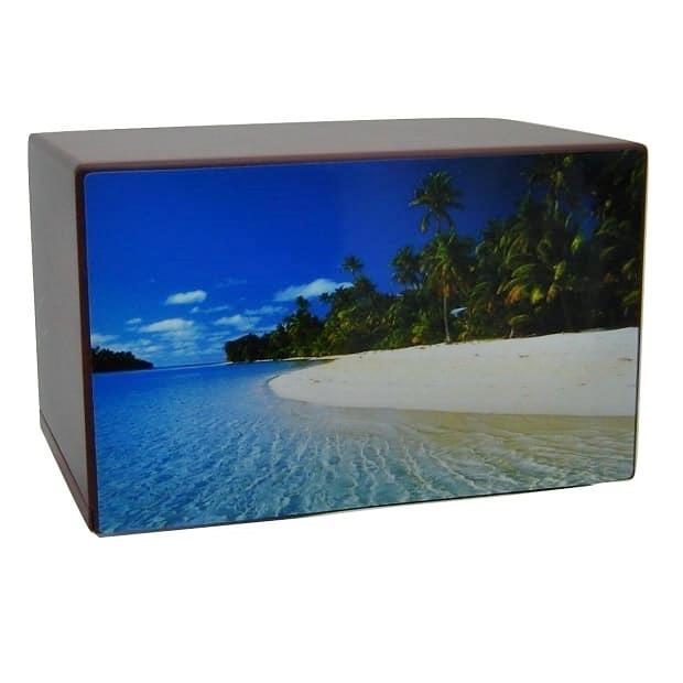 Tropical Beach Getaway Urn