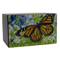 Monarch Butterfly Painting Urn