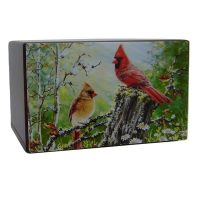 Cardinals in Natural Beauty Urn